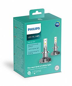 PHILIPS LED H7 12V 14W Ultinon  6200Κ 8years +160%